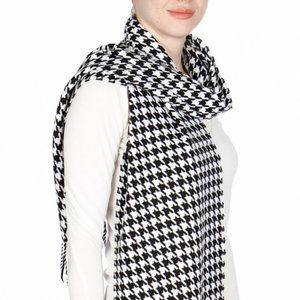 Winter Warmers - Houndstooth Cashmere feel Scarve